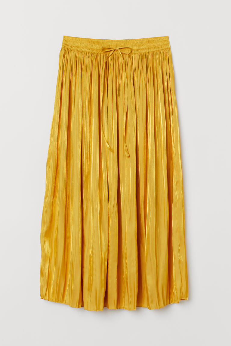 Pleated skirt - Yellow - Ladies | H&M IN