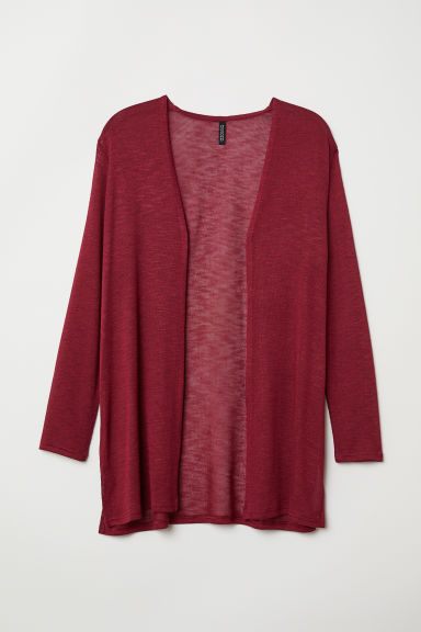 H&M+ Fine-knit cardigan - Dark red - Ladies | H&M CN