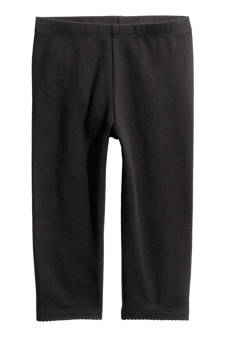 3/4-length leggings - Black - Kids | H&M