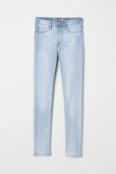Skinny Fit High Jeans - Azul denim claro - NIÑOS | H&M ES