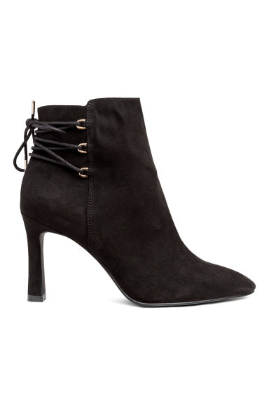 Ankle boots with lacing - Black -  | H&M CN