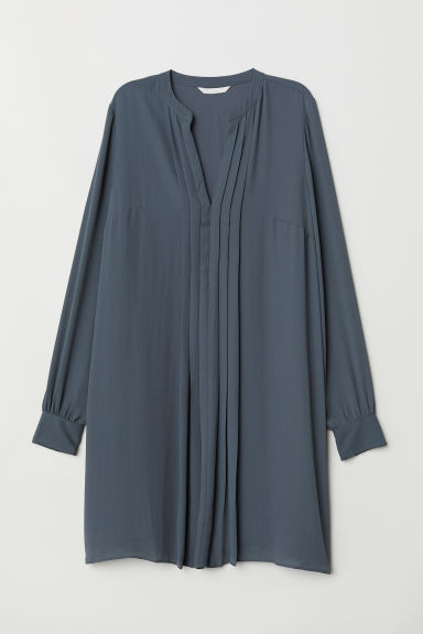 Pleated dress - Dark grey - Ladies | H&M