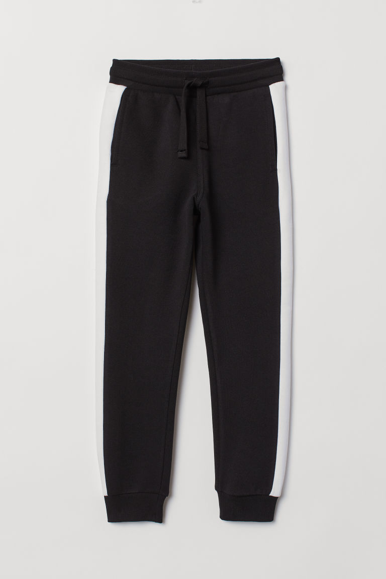 Joggers - Black/White - Kids | H&M CN