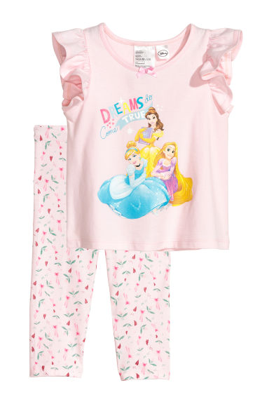 Pyjama en jersey - Rose clair/princesses Disney -  | H&M CH