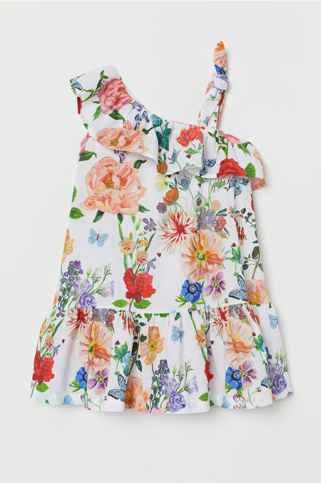 05b5a9ef7e1 ... Flounced dress - White Floral - Kids