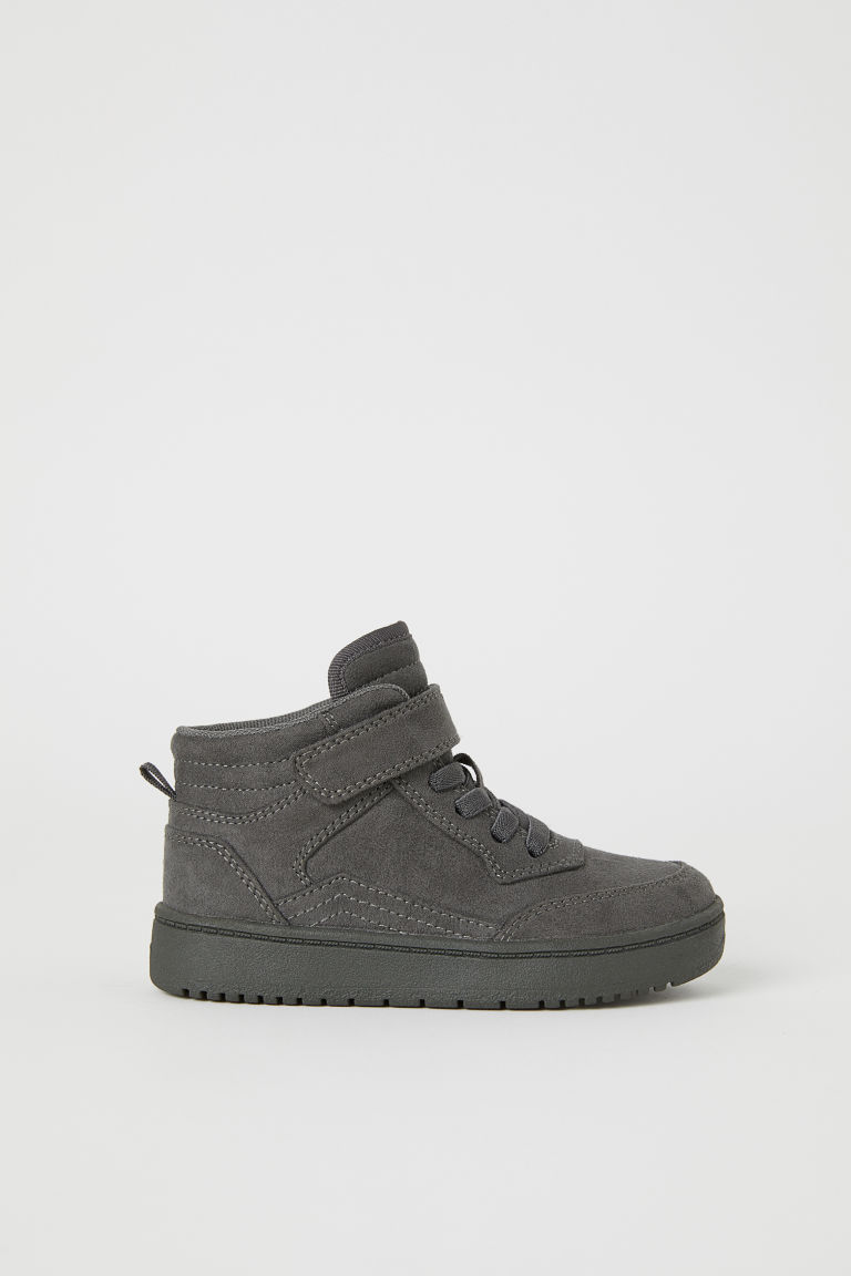 Hi-top trainers - Dark grey - Kids | H&M CN