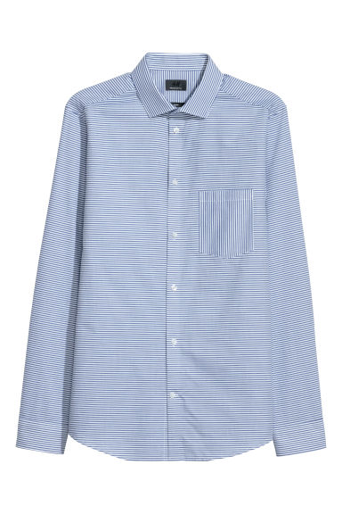 Premium cotton shirt - White - Men | H&M GB
