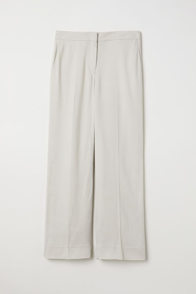 Wide trousers - Light beige - Ladies | H&M CN