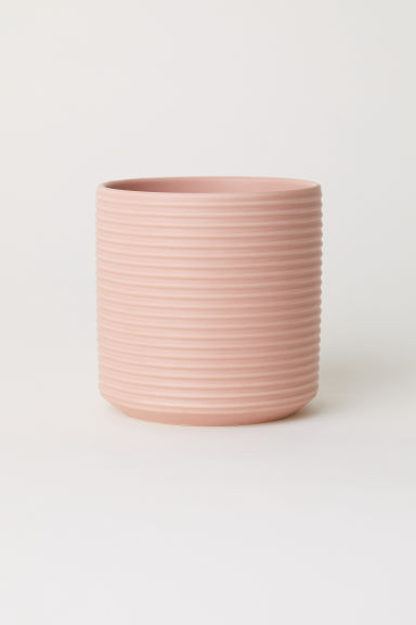 Small stoneware plant pot - Pink - Home All | H&M CN
