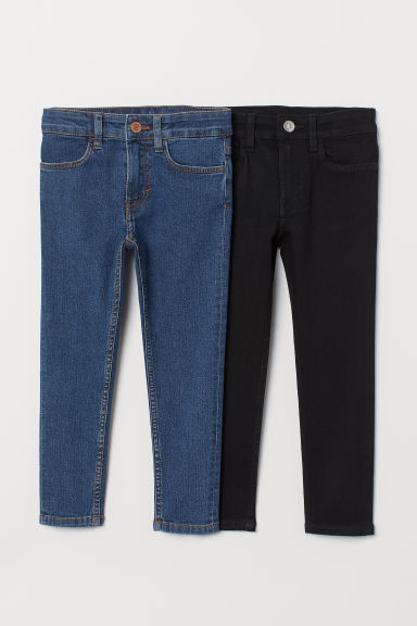 Skinny Fit Jeans, lot de 2 - Bleu denim/noir - ENFANT | H&M BE