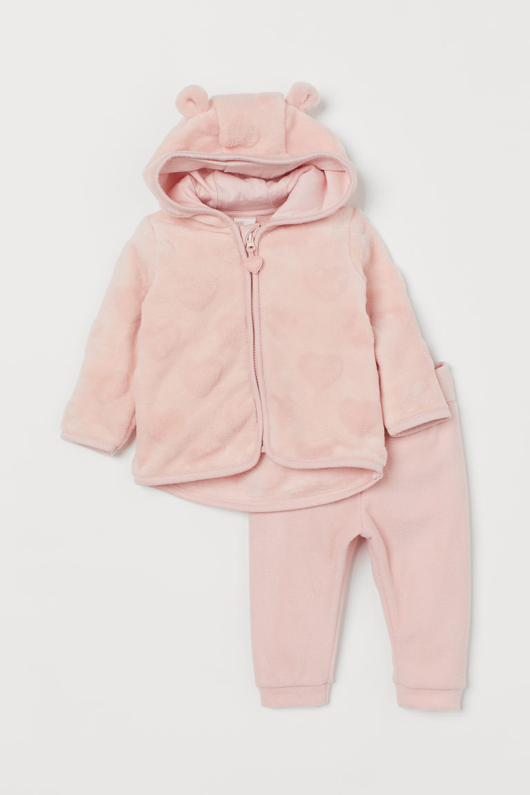 Jacket and trousers - Light pink - Kids | H&M IN