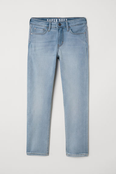 Super Soft Skinny Fit Jeans - Light blue - Kids | H&M CN