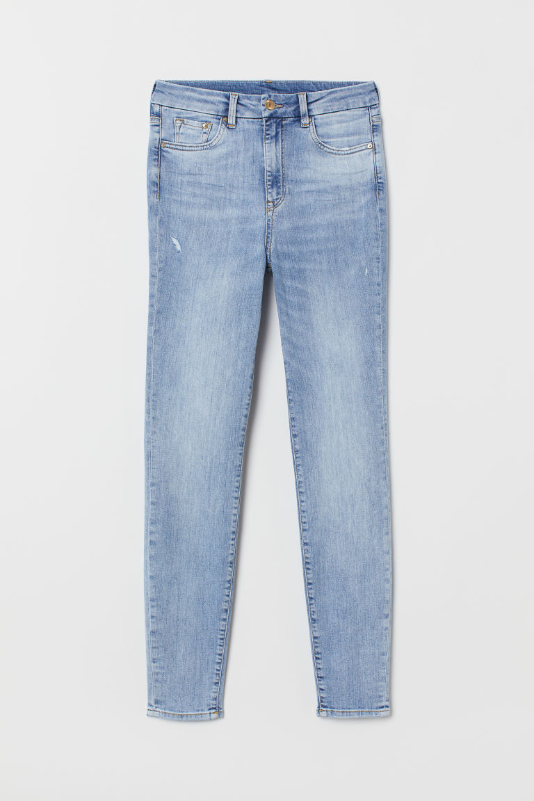 Embrace High Ankle Jeans - Bleu denim clair -  | H&M CH