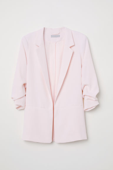 Jacket with Gathered Sleeves - Light pink - Ladies | H&M US