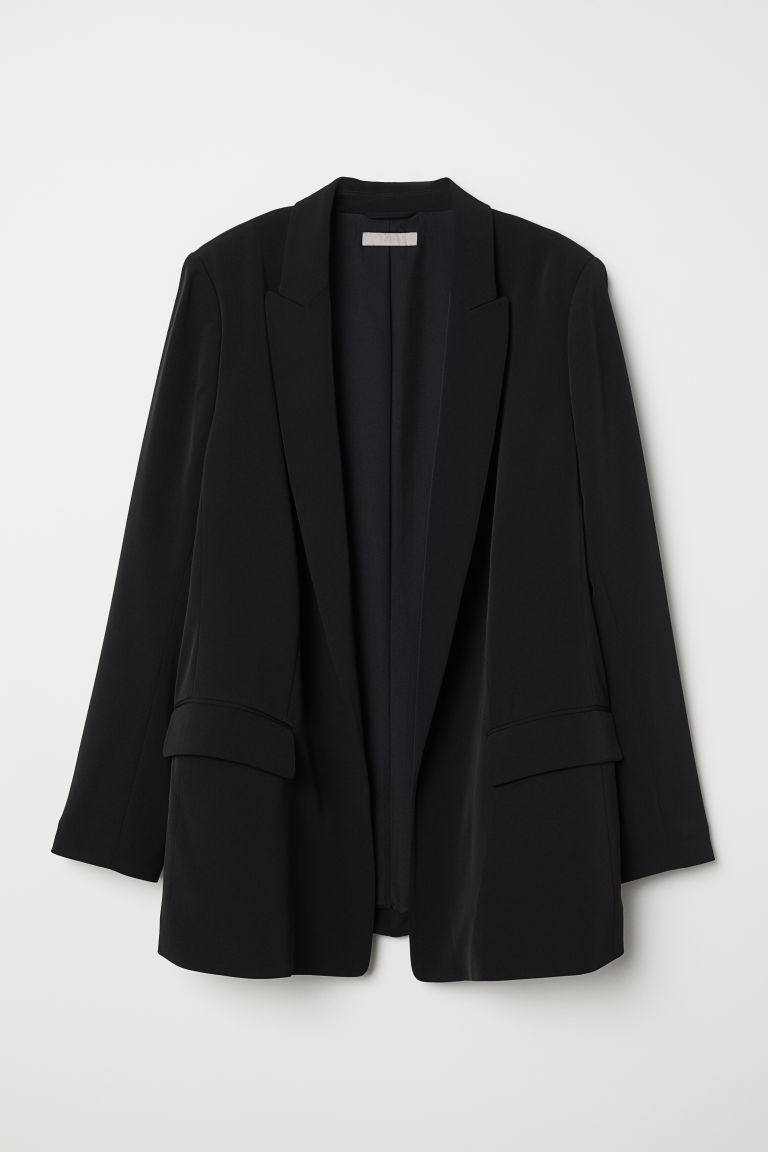 H&M+ Straight-cut jacket - Black - Ladies | H&M CN