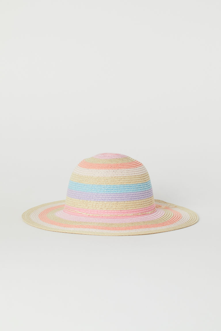 Straw Hat - Light pink/multicoloured - Kids | H&M US