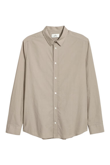 Cotton poplin shirt - Light mole - Men | H&M