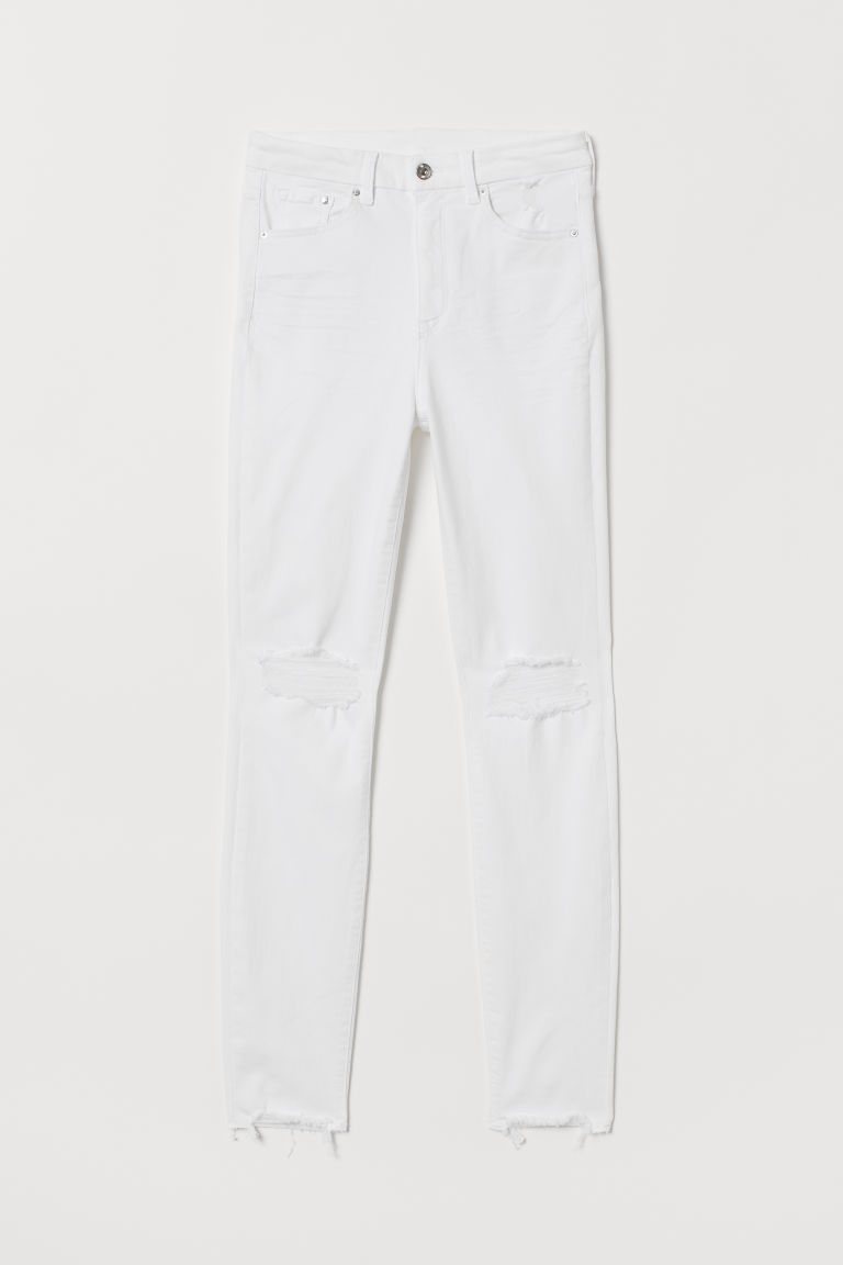 Jeans Embrace High Ankle - Blanco/Destruído -  | H&M MX