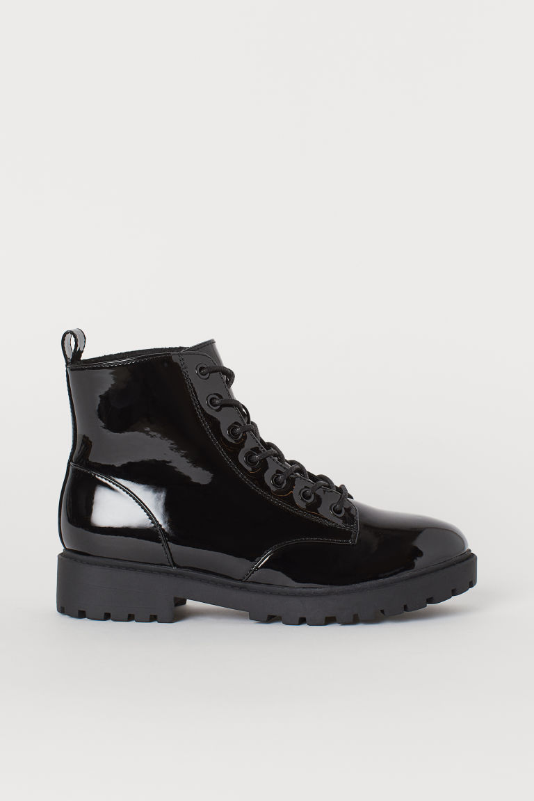 Pile-lined Boots - Black/patent - Ladies | H&M US