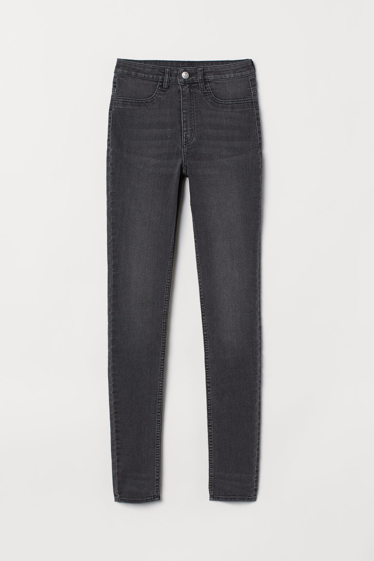 Super Skinny High Jeans - Dark grey - Ladies | H&M CN