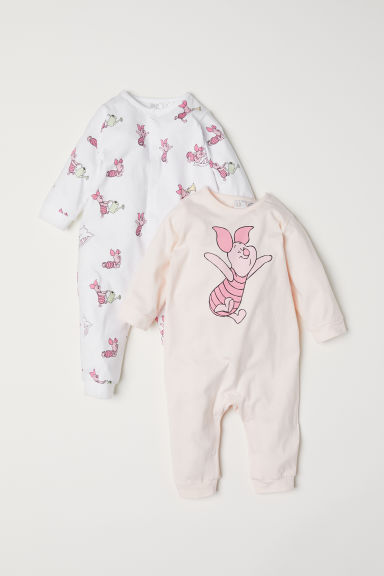 2-pack all-in-one pyjamas - White/Piglet - Kids | H&M