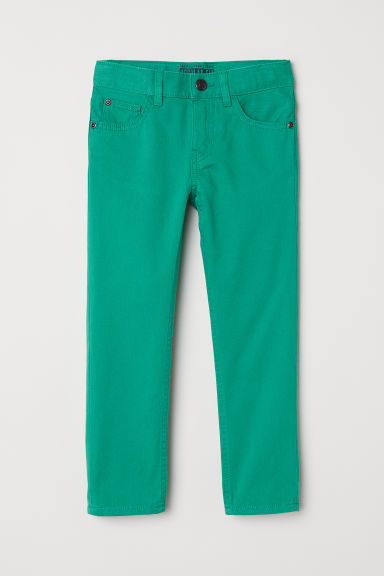 Twill trousers Regular fit - Green -  | H&M CN