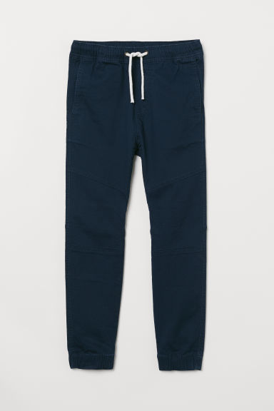 Generous Fit Pull-on trousers - Dark blue - Kids | H&M