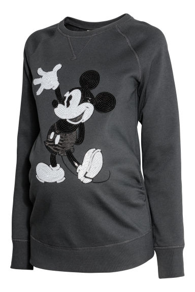MAMA Printed sweatshirt - Dark grey -  | H&M CN