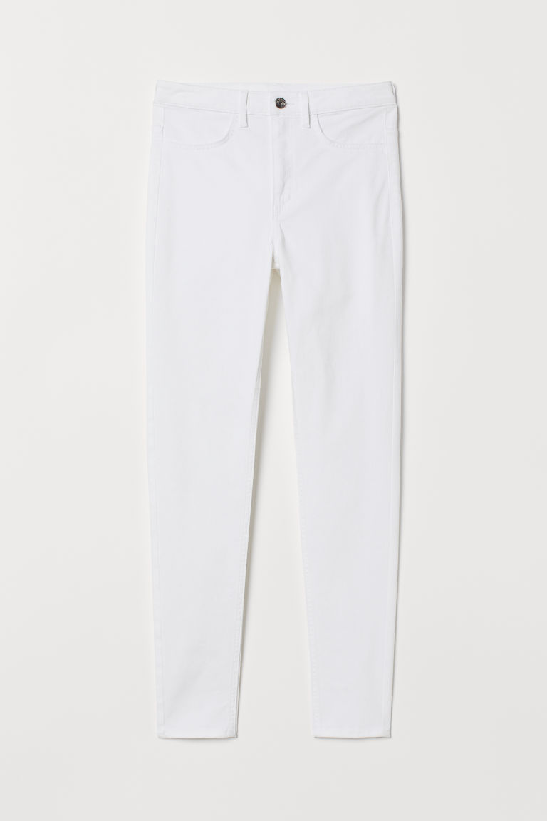 Super Skinny High Jeans - White -  | H&M CN