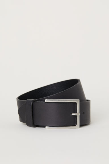 Leather belt - Black -  | H&M