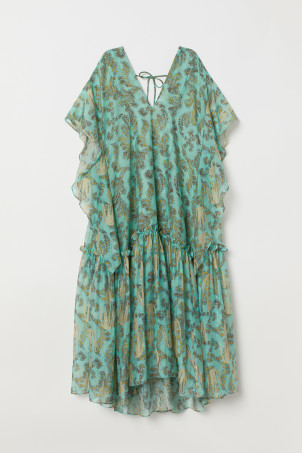 Lyocell-blend kaftan dress