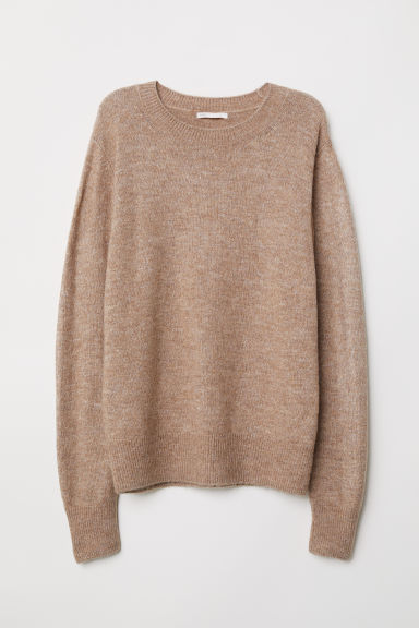 Fine-knit jumper - Beige marl - Ladies | H&M