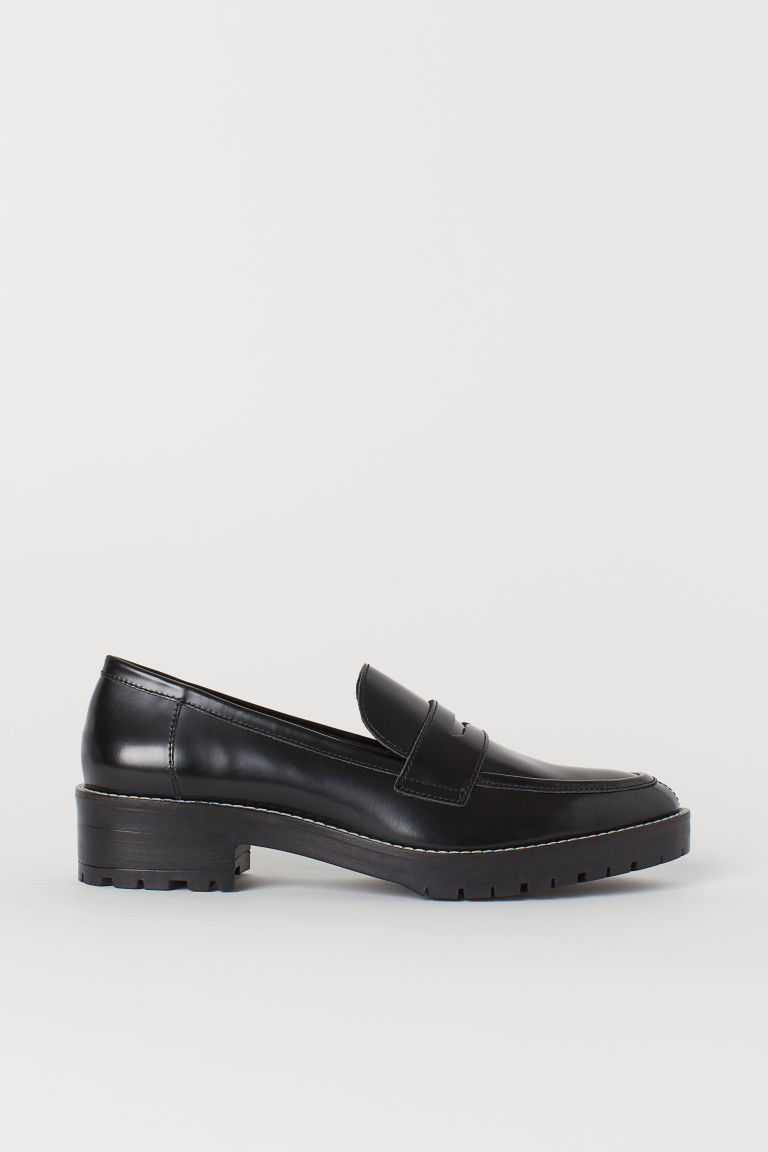 Leather loafers - Black - Ladies | H&M