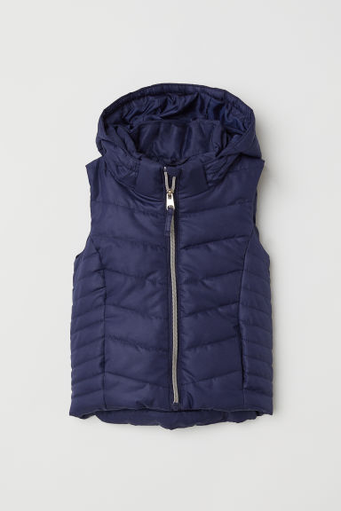 Padded gilet - Dark blue -  | H&M