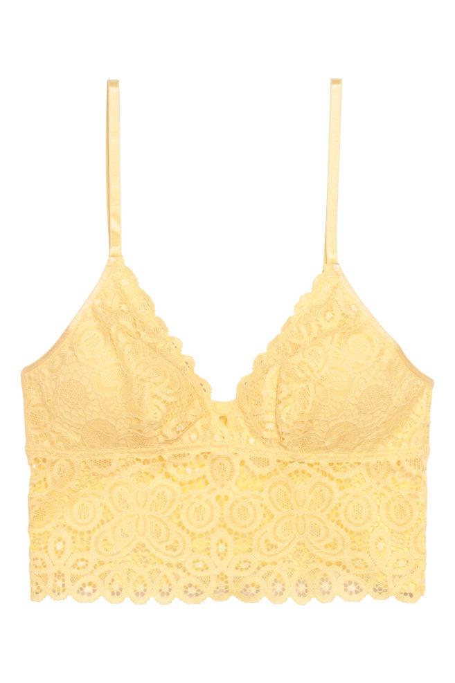 3f8980c53e332 Lightly padded bralette - Yellow - Ladies