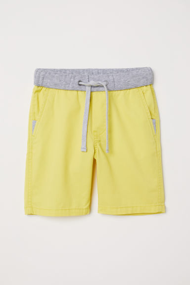 Twill shorts - Yellow - Kids | H&M CN