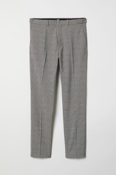 Suit trousers Skinny Fit - Natural white/Dogtooth pattern - Men | H&M CN