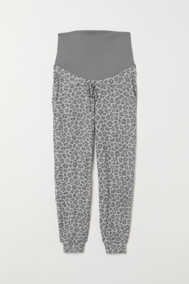 MAMA Patterned joggers - Light grey/Leopard print - Ladies | H&M CN
