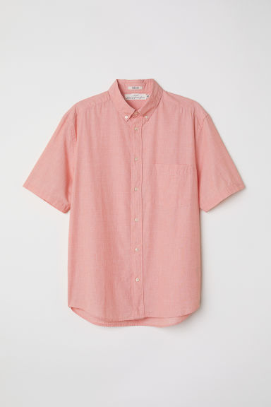 Poplin shirt Regular fit - Light orange - Men | H&M CN
