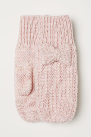 Glittery mittens - Light pink - Kids | H&M