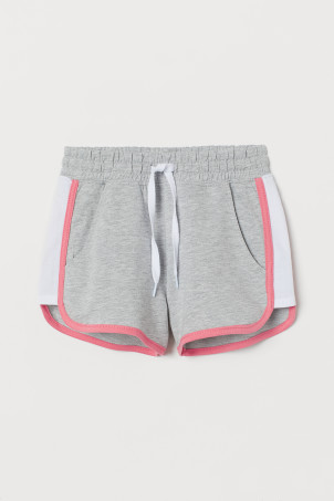 Shorts with side stripes