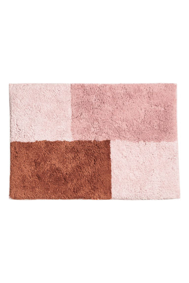 Block-coloured bath mat - Rust brown/Multicoloured -  | H&M GB