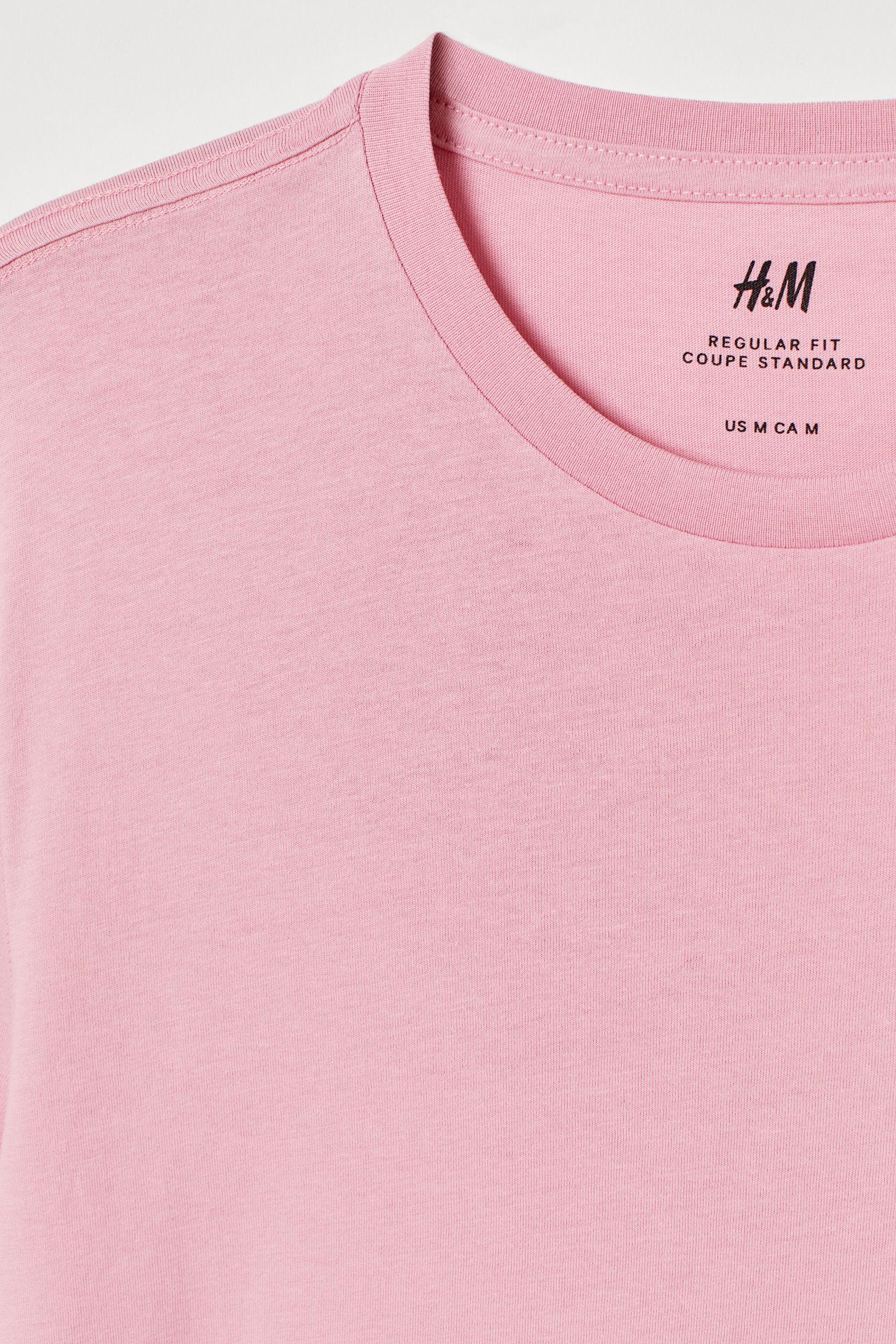4e5529dae4b56a Crew-neck T-shirt Regular fit - White - Men | H&M US