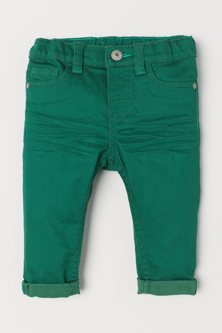 Twill trousers - Green -  | H&M