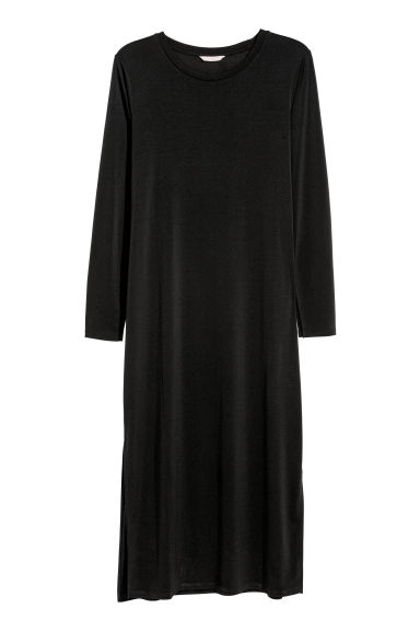 H&M+ Calf-length dress - Black - Ladies | H&M