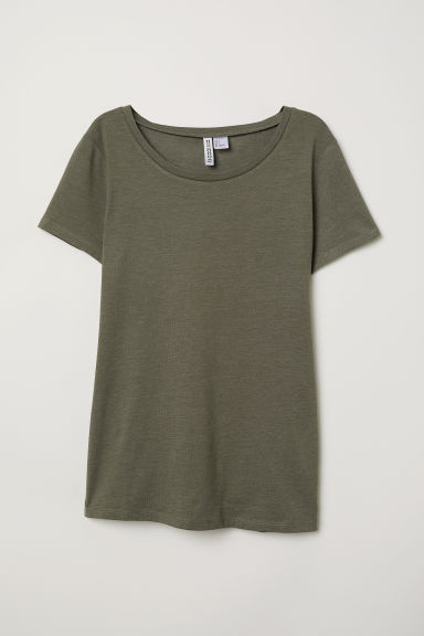T-shirt - Dark khaki green -  | H&M
