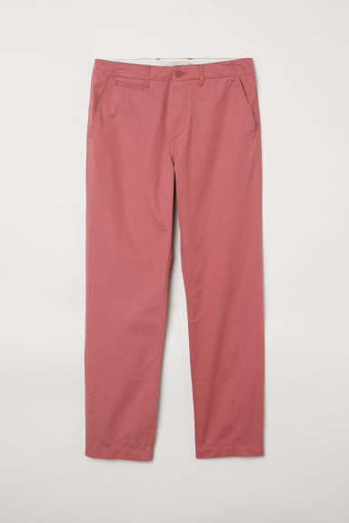 Cotton chinos - Light red - Men | H&M
