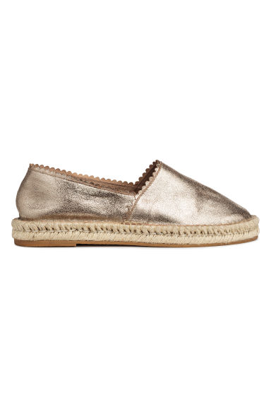Espadrilles - Gold-coloured/Leather -  | H&M IN