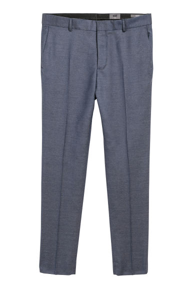 Wollen broek - Slim fit - Blauwpaars - HEREN | H&M BE