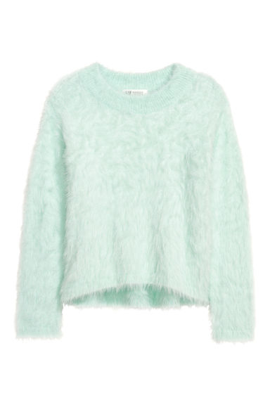 Fluffy jumper - Mint green - Kids | H&M